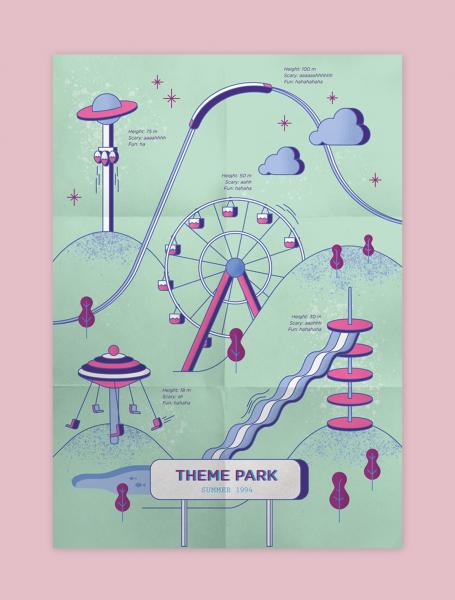 Ilustración Parque de Atracciones